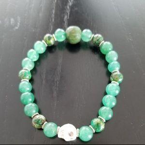 Other - Men's Green Aventurine Beaded Bracelet